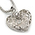 Rhodium Plated Swarovski Crystal 'Queen of Hearts' Pendant on Long Lantern Chain - 70cm (6cm Extension) - view 5