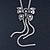 Long Vintage Butterfly With Tassel Pendant Mesh Chain Necklace - 62cm length/ 7cm Extension - view 3