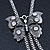 Long Vintage Butterfly With Tassel Pendant Mesh Chain Necklace - 62cm length/ 7cm Extension - view 5