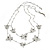 Long 2-Strand, Layered Butterfly Necklace In Silver Tone - 100cm L/ 5cm Ext - view 1
