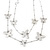 Long 2-Strand, Layered Butterfly Necklace In Silver Tone - 100cm L/ 5cm Ext - view 2