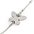 Long 2-Strand, Layered Butterfly Necklace In Silver Tone - 100cm L/ 5cm Ext - view 3