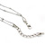 Long 2-Strand, Layered Butterfly Necklace In Silver Tone - 100cm L/ 5cm Ext - view 4