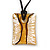 Glittering Gold/Silver Square Glass Pendant On Black Suede Cord - 42cm Length/ 7cm Extender