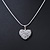 Clear Crystal 3D Heart Pendant On Silver Tone Snake Style Chain - 40cm Length/ 4cm Extention - view 5