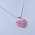 Baby Pink Crystal 3D Heart Pendant On Silver Tone Snake Style Chain - 40cm Length/ 4cm Extention - view 9