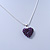 Deep Purple Crystal 3D Heart Pendant On Silver Tone Snake Style Chain - 40cm Length/ 4cm Extention - view 6