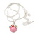 Small Romantic Baby Pink 'Floral Garden' Pendant With Silver Tone Snake Style Chain - 40cm Length/ 6cm Extension - view 7