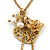 Vintage Inspired Delicate Heart, Flower, Freshwater Pearl Tassel Necklace In Gold Plating - 38cm Length/ 4cm Extension - view 2