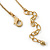 Vintage Inspired Delicate Heart, Flower, Freshwater Pearl Tassel Necklace In Gold Plating - 38cm Length/ 4cm Extension - view 5