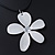 White Enamel 'Daisy' Pendant With Waxed Cotton Cord In Silver Tone - 38cm Length/ 7cm Extension - view 6