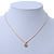 7mm Clear Round Crystal Pendant With Gold Tone Snake Chain - 36cm Length/ 5cm Extension - view 6
