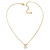 7mm Clear Round Crystal Pendant With Gold Tone Snake Chain - 36cm Length/ 5cm Extension - view 5