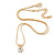 7mm Clear Round Crystal Pendant With Gold Tone Snake Chain - 36cm Length/ 5cm Extension - view 3