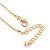 7mm Clear Round Crystal Pendant With Gold Tone Snake Chain - 36cm Length/ 5cm Extension - view 4