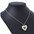 Milky White Enamel, Crystal 'Heart' Pendant With Silver Tone Chain - 40cm Length/ 7cm Extension - view 9