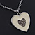 Milky White Enamel, Crystal 'Heart' Pendant With Silver Tone Chain - 40cm Length/ 7cm Extension - view 8