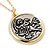 Two Tone 'Angel' Medallion Pendant With Gold Tone Chain - 40cm L/ 5cm Ext - view 2