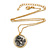Two Tone 'Angel' Medallion Pendant With Gold Tone Chain - 40cm L/ 5cm Ext - view 3