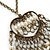 Vintage Inspired Open Heart With Freshwater Pearl Dangles Pendant On Bronze Tone Chain - 40cm Length/ 5cm Extension - view 5