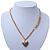 Romantic Etched Heart Locket Pendant With 44cm L/ 6cm Ext Gold Tone Double Chain - view 6