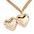 Romantic Etched Heart Locket Pendant With 44cm L/ 6cm Ext Gold Tone Double Chain - view 4
