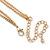 Romantic Etched Heart Locket Pendant With 44cm L/ 6cm Ext Gold Tone Double Chain - view 5