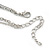 Open, Filigree Crystal Heart Pendant With Double Chain In Silver Tone - 38cm L/ 5cm Ext - view 5