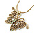 Vintage Inspired Filigree Butterfly Pendant With Gold Tone Snake Chain - 36cm Length/ 7cm Extension - view 2