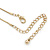 Vintage Inspired Filigree Butterfly Pendant With Gold Tone Snake Chain - 36cm Length/ 7cm Extension - view 4