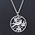 Light Silver Tone Bird Medallion Pendant With Long 70cm L chain
