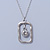 Matte Silver Square Pendant With Long Chain Necklace - 70cm Length/ 7cm Extension - view 7