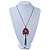 Red, Pink Enamel Tassel Pendant With 80cm L Bronze Tone Double Chain - view 6