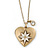 Antique Gold Heart Locket Pendant With Long Chain - 68cm L/ 8cm Ext