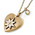 Antique Gold Heart Locket Pendant With Long Chain - 68cm L/ 8cm Ext - view 2