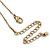 Antique Gold Heart Locket Pendant With Long Chain - 68cm L/ 8cm Ext - view 6