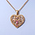 Romantic Filigree Pink Diamante 'Heart' Pendant With Gold Plated Chain - 38cm Length/ 7cm Extension - view 5