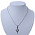 Small Crystal Heart Pendant With Pewter Tone Chain - 40cm L - view 5