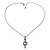 Small Crystal Heart Pendant With Pewter Tone Chain - 40cm L - view 3