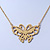 Small Matte Gold 'Butterfly' Pendant Necklace - 36cm Length/ 6cm Extension - view 3
