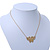 Small Matte Gold 'Butterfly' Pendant Necklace - 36cm Length/ 6cm Extension - view 7