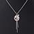 Vintage Inspired Delicate Charm Tassel Pendant Necklace In Matte Silver Tone - 40cm L/ 6cm Ext - view 3
