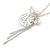 Vintage Inspired Delicate Charm Tassel Pendant Necklace In Matte Silver Tone - 40cm L/ 6cm Ext - view 5