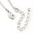 Vintage Inspired Delicate Charm Tassel Pendant Necklace In Matte Silver Tone - 40cm L/ 6cm Ext - view 6