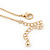 Small Burn Gold Marcasite Crystal 'Heart' Pendant With Gold Tone Chain - 40cm Length/ 5cm Extension - view 4