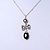 Delicate Beaded Bow Pendant with Silver Tone Chain In Pewter Tone - 37cm L/ 8cm Ext - view 4