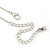 Delicate Beaded Bow Pendant with Silver Tone Chain In Pewter Tone - 37cm L/ 8cm Ext - view 7