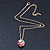 Multicoloured Enamel, Crystal Flower Ball Pendant With Gold Tone Chain - 40cm Length/ 5cm Extension - view 5