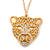 Exotic Swarovski Crystal 'Tiger' Pendant In Gold Plating - 74cm Length/ 9cm Extension