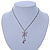 Butterfly Pendant with Double Chain In Silver Tone - 37cm L/ 8cm Ext - view 2